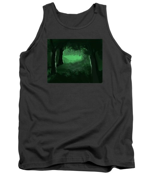 Tank Top featuring the digital art Light In The Forest by Walter Chamberlain