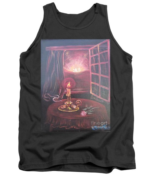 Light The Yes Candle Tank Top by Sigrid Tune