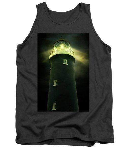 Lighthouse At Night Tank Top