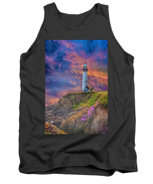 Lighthouse At Pigeon Point Tank Top