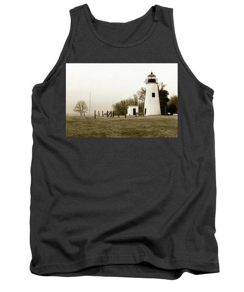 Lighthouse At Turkey Point Tank Top
