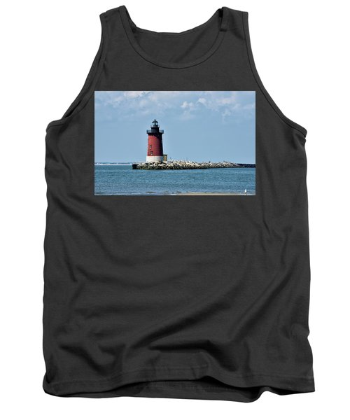 Tank Top featuring the photograph Delaware Breakwater East End Lighthouse - Lewes Delaware by Brendan Reals