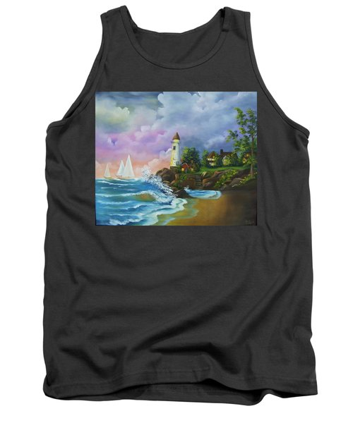 Lighthouse By The Village Tank Top