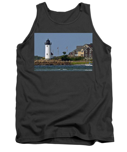 Lighthouse In The Ipswich Bay Tank Top by Alex Galkin