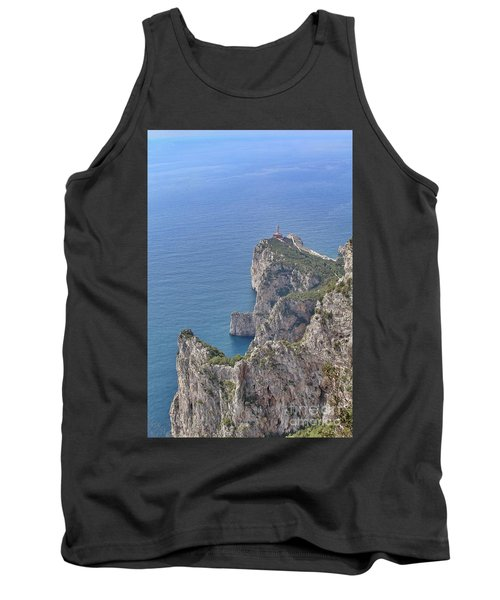 Lighthouse On The Cliff Tank Top