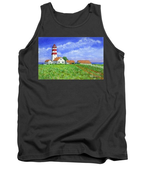 Tank Top featuring the painting Lighthouse Pasture by Val Miller