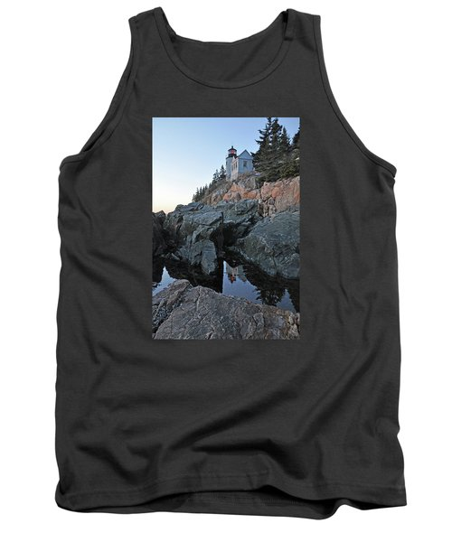 Tank Top featuring the photograph Lighthouse Reflection by Glenn Gordon