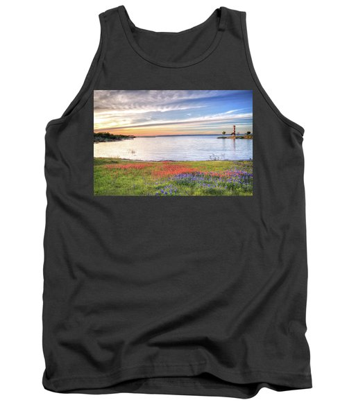 Lighthouse Sunset At Lake Buchanan Tank Top