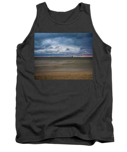 Lighthouse Under Brewing Clouds Tank Top