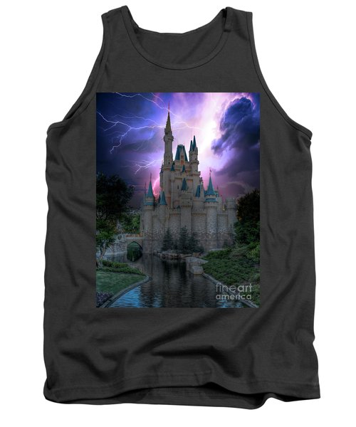 Lighting Over The Castle Tank Top