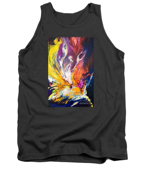Tank Top featuring the painting Like Fire In The Wind by Marat Essex