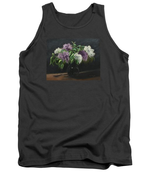 Lilacs Tank Top by Alan Mager