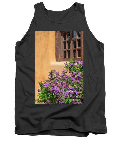 Lilacs And Adobe Tank Top by Catherine Sherman