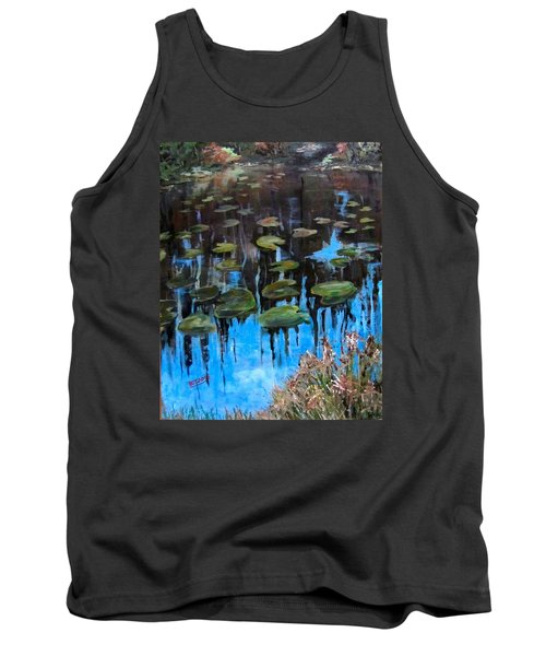 Lilly Pads And Reflections Tank Top by Barbara O'Toole