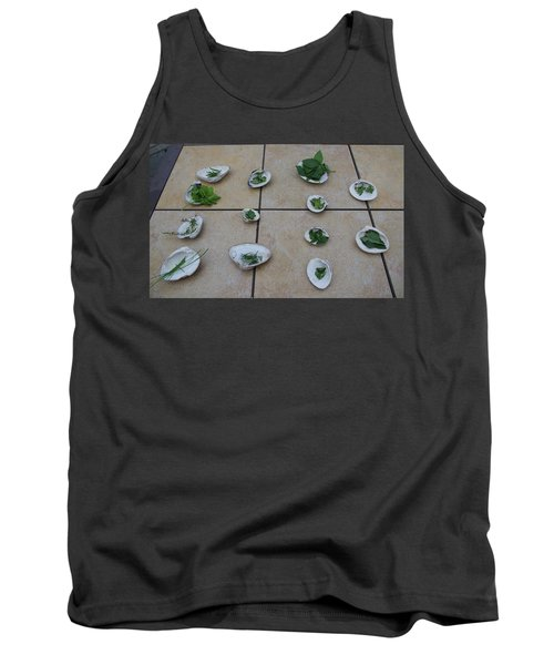 Lilly's Herb Seashore Seashells Tank Top by Greg Graham