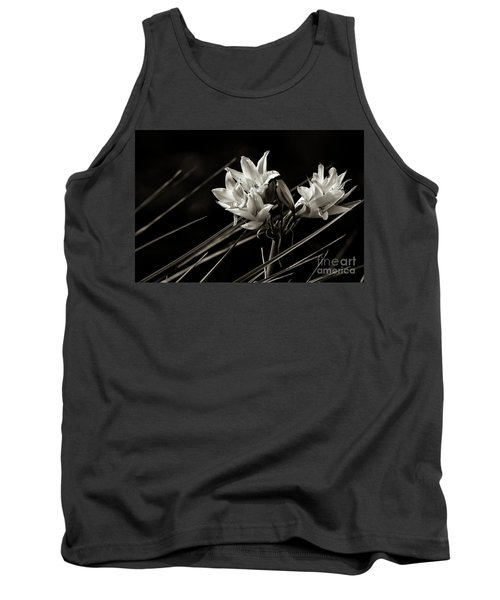 Lily In Monochrome Tank Top by Nicholas Burningham
