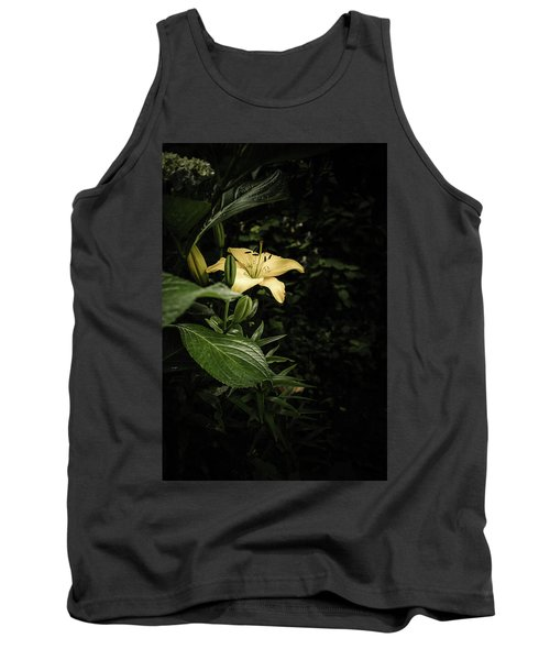 Tank Top featuring the photograph Lily In The Garden Of Shadows by Marco Oliveira