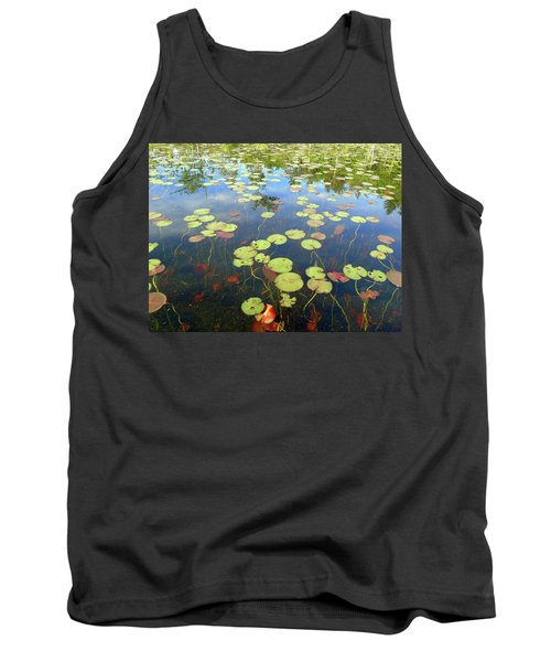 Lily Pads And Reflections Tank Top by Susan Lafleur