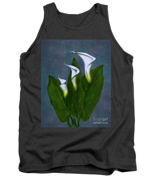 Tank Top featuring the painting White Calla Lilies by Peter Piatt