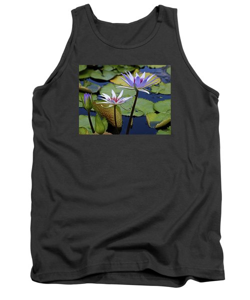 Tank Top featuring the photograph Lily Trio by Judy Vincent