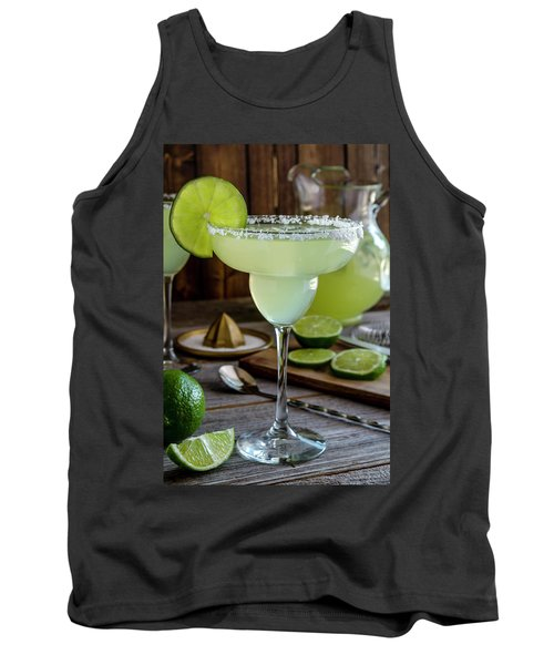 Tank Top featuring the photograph Lime Margaritas by Teri Virbickis