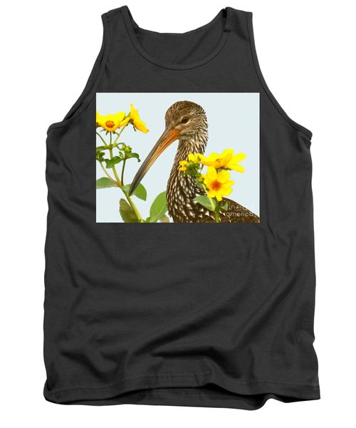 Limpkin In The Flowers Tank Top by Myrna Bradshaw