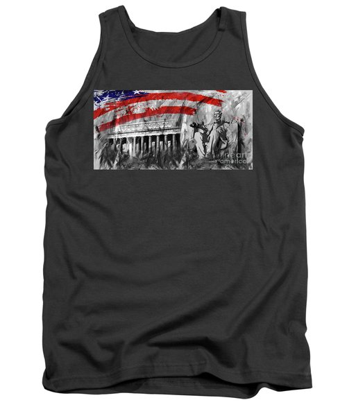 Tank Top featuring the painting Lincoln Abe by Gull G