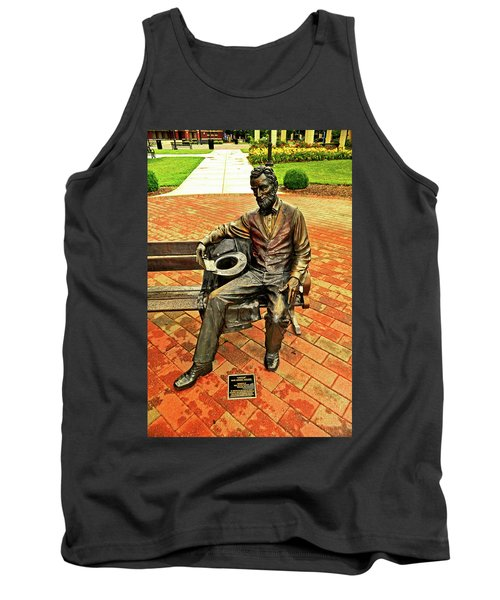 Tank Top featuring the photograph Lincoln Library Statue 004 by George Bostian