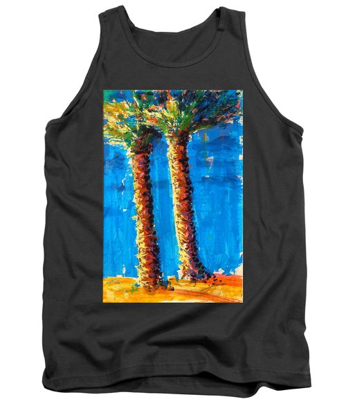 Lincoln Rd Date Palms Tank Top