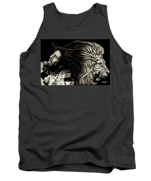 Lion Heart -bob Marley Tank Top