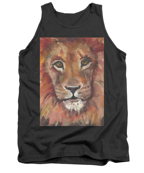 Tank Top featuring the painting Lion by Jessmyne Stephenson