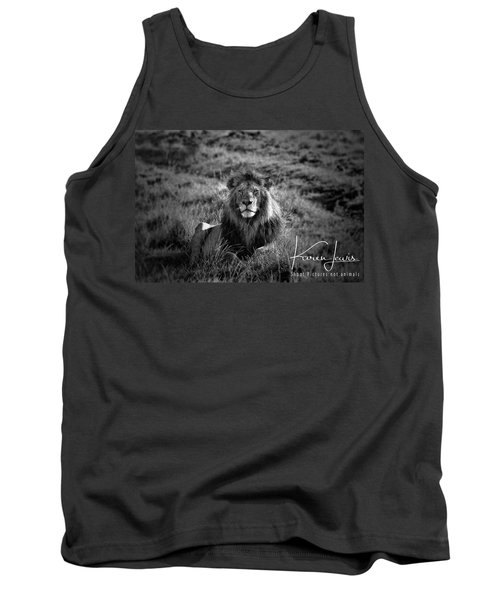 Tank Top featuring the photograph Lion King by Karen Lewis