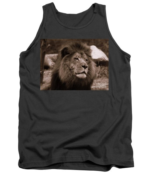 Tank Top featuring the photograph Lion King by Lisa L Silva