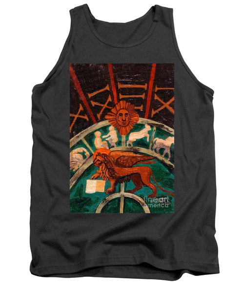 Tank Top featuring the painting Lion Of St. Mark by Genevieve Esson