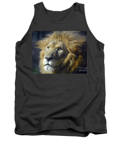 Tank Top featuring the photograph Lion Portrait by Savannah Gibbs