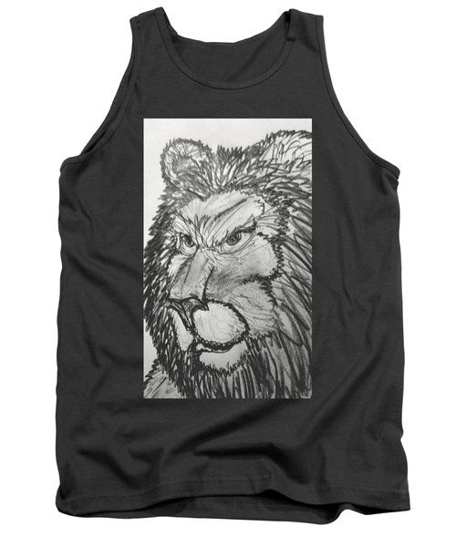 Lion Sketch  Tank Top by Yshua The Painter