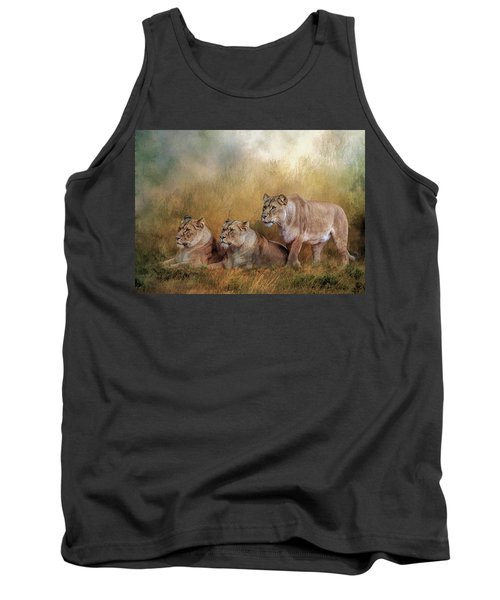 Lionesses Watching The Herd Tank Top