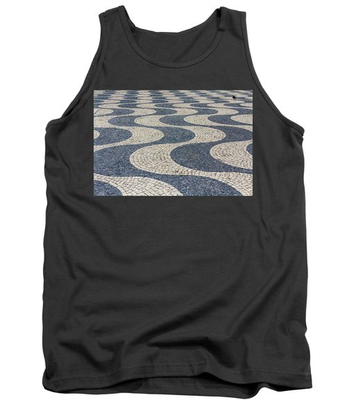 Tank Top featuring the photograph Lisbon Street by Patricia Schaefer