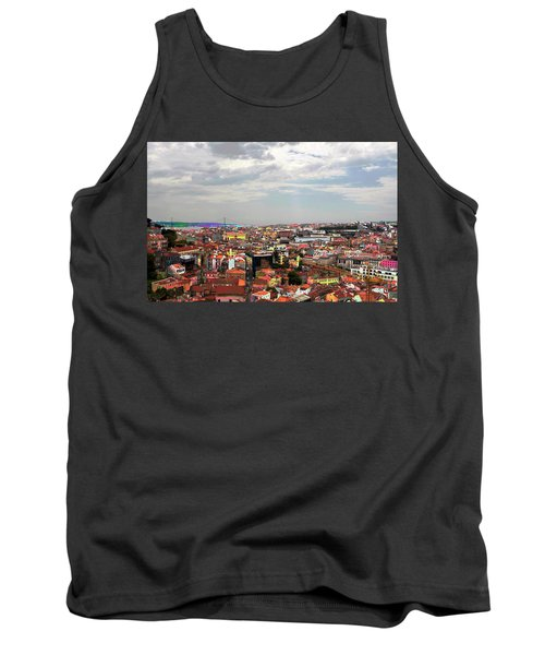 Tank Top featuring the photograph Lisbon's Chaos Of Color by Lorraine Devon Wilke