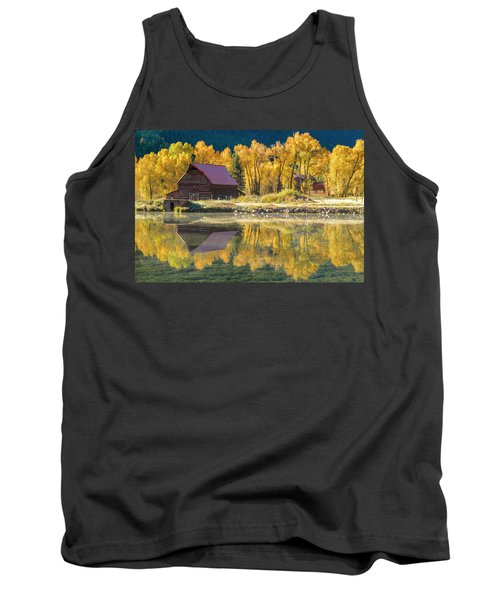 Little Barn By The Lake Tank Top by Teri Virbickis