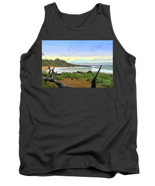 Tank Top featuring the photograph Little Beach by DJ Florek
