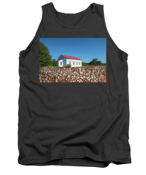 Tank Top featuring the photograph Little Church In The Cotton Field by Bonnie Barry