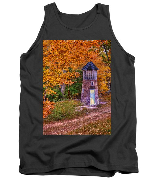 Tank Top featuring the photograph Little Falls Autumn Lighthouse by Trey Foerster