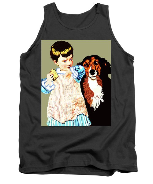 Little Girl With Hungry Mutt Tank Top