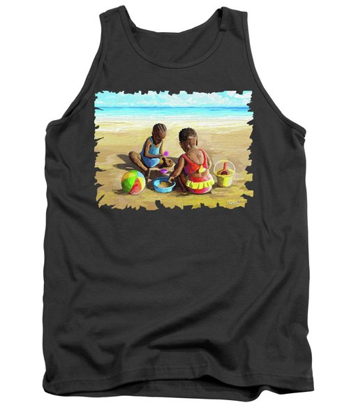 Little Girls At The Beach Tank Top