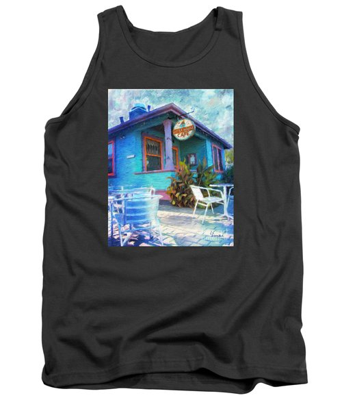Little House Cafe  Tank Top by Linda Weinstock