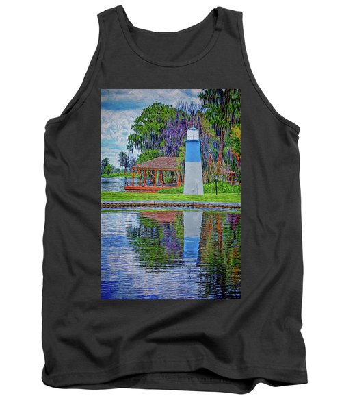 Tank Top featuring the photograph Little Lake Lightouse by Lewis Mann