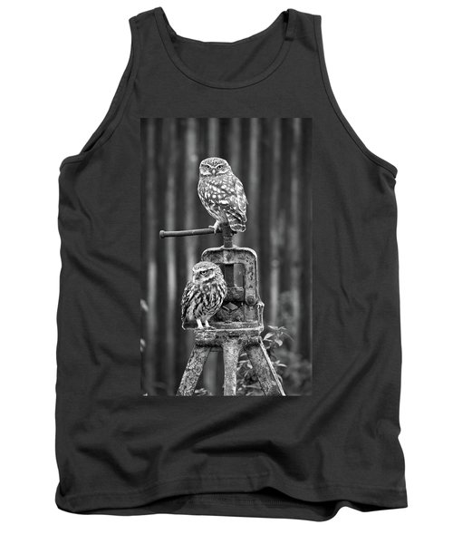 Little Owls Black And White Tank Top