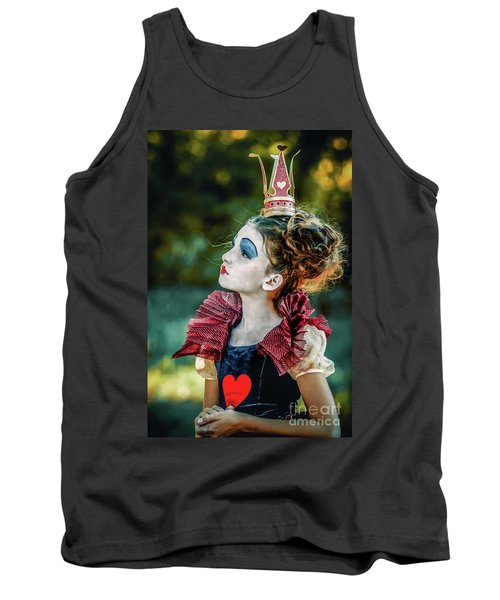 Tank Top featuring the photograph Little Princess Of Hearts Alice In Wonderland by Dimitar Hristov