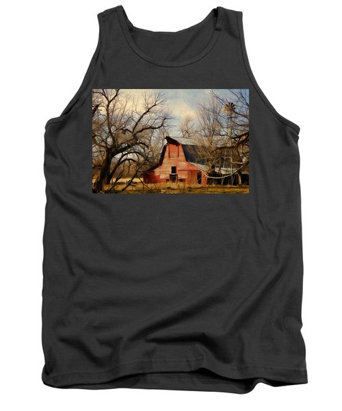 Tank Top featuring the photograph Little Red Barn by Lana Trussell